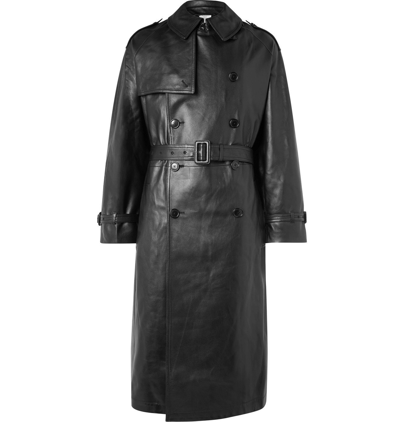 Photo: Vetements - Oversized Leather Trench Coat - Black