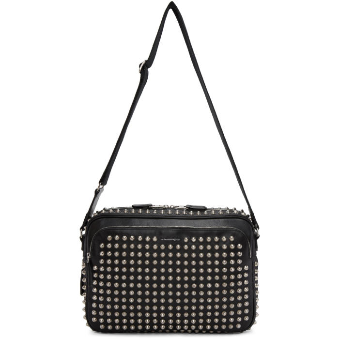 Photo: Alexander McQueen Black Studded Camera Bag