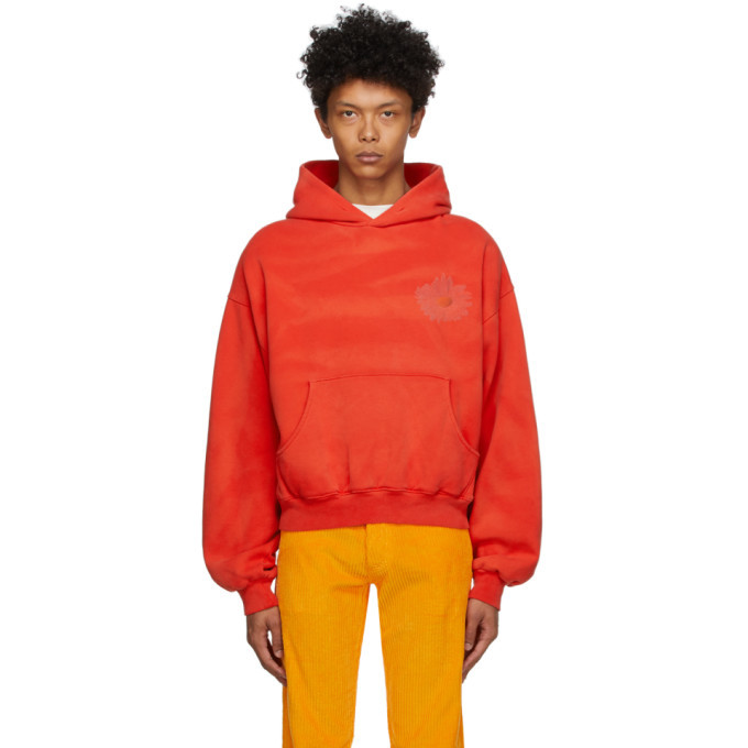 Photo: ERL SSENSE Exclusive Red Daisy Hoodie