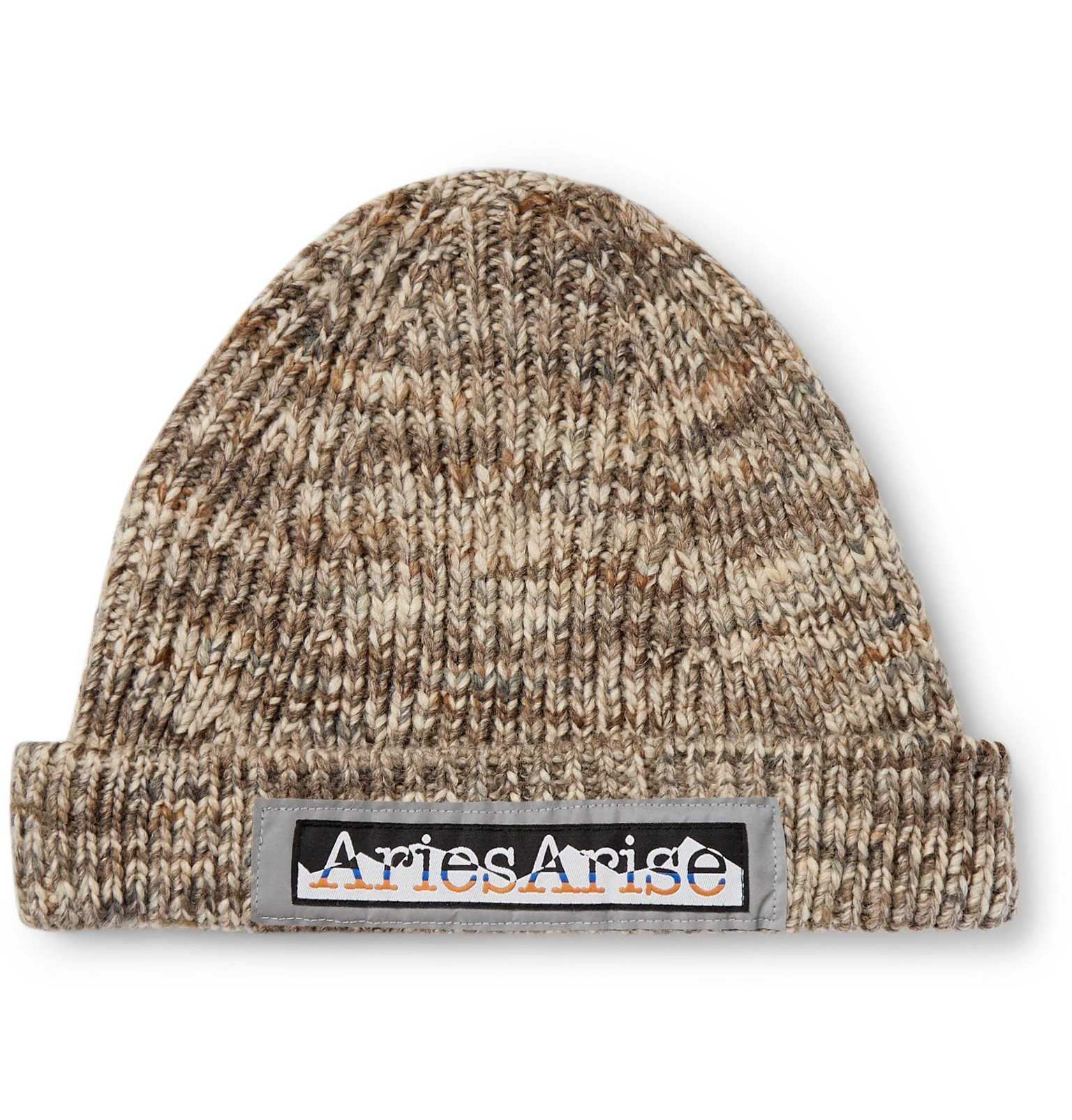 Aries - Space-Dyed Knitted Beanie - Neutrals