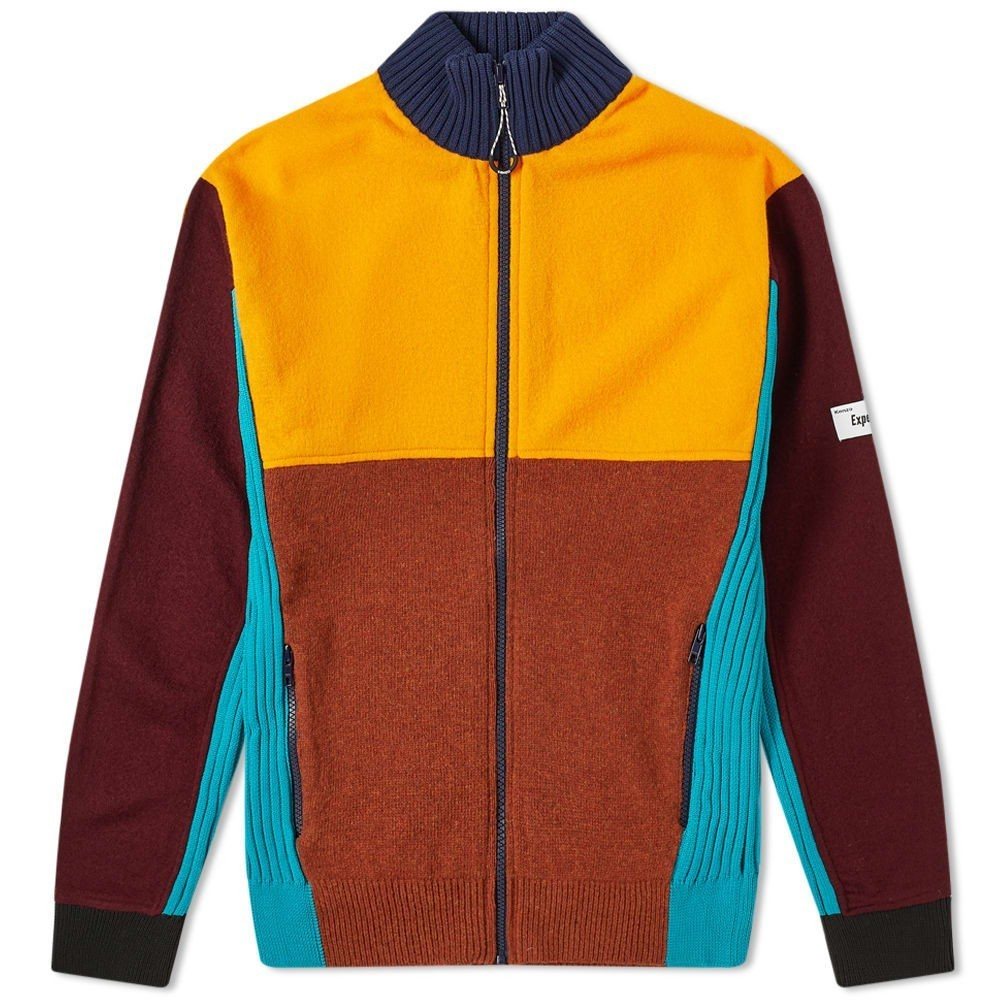 Photo: Kenzo Felted Colourblock Zip Knit Track Top