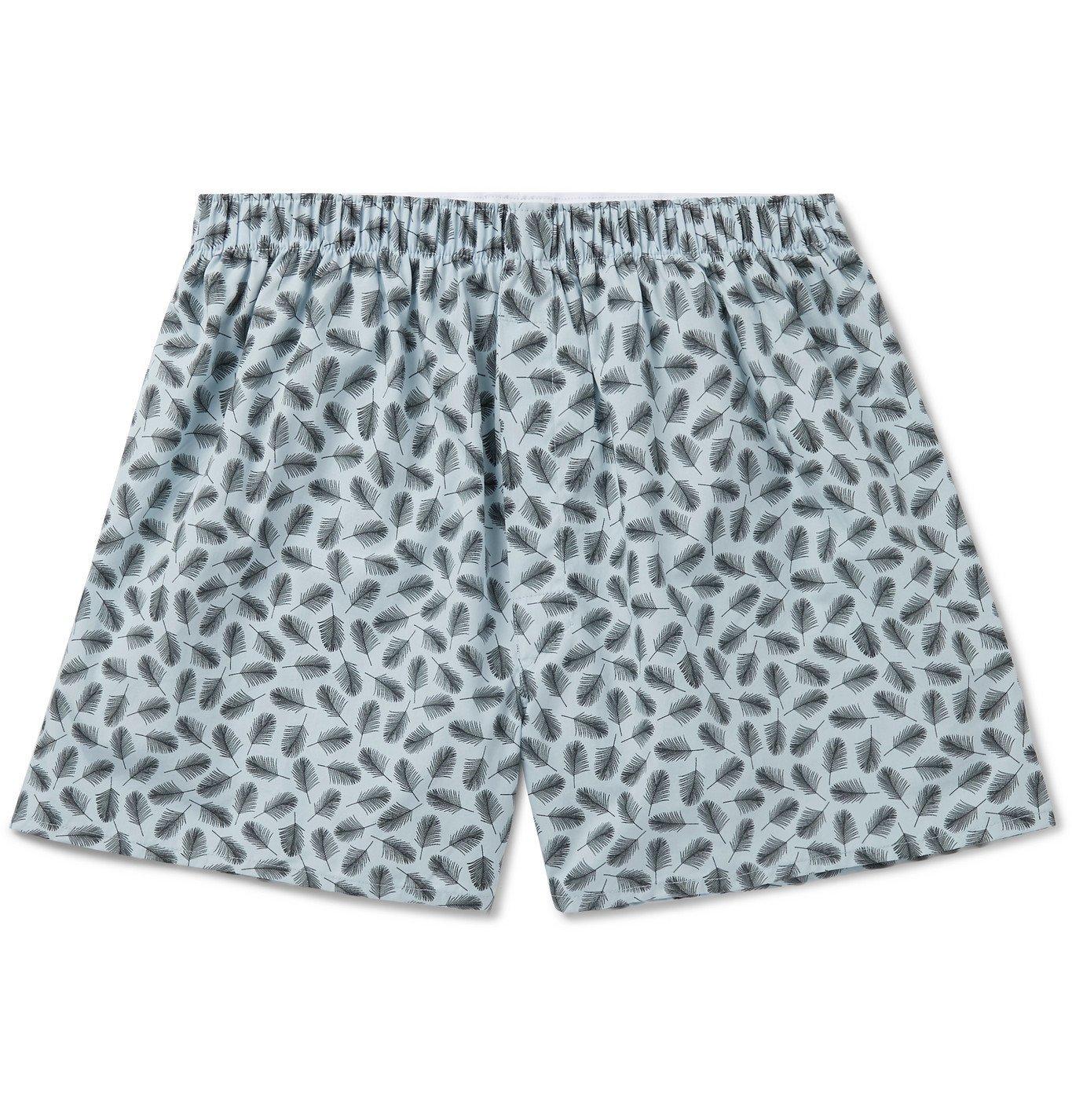Photo: Sunspel - Printed Cotton Boxer Shorts - Blue