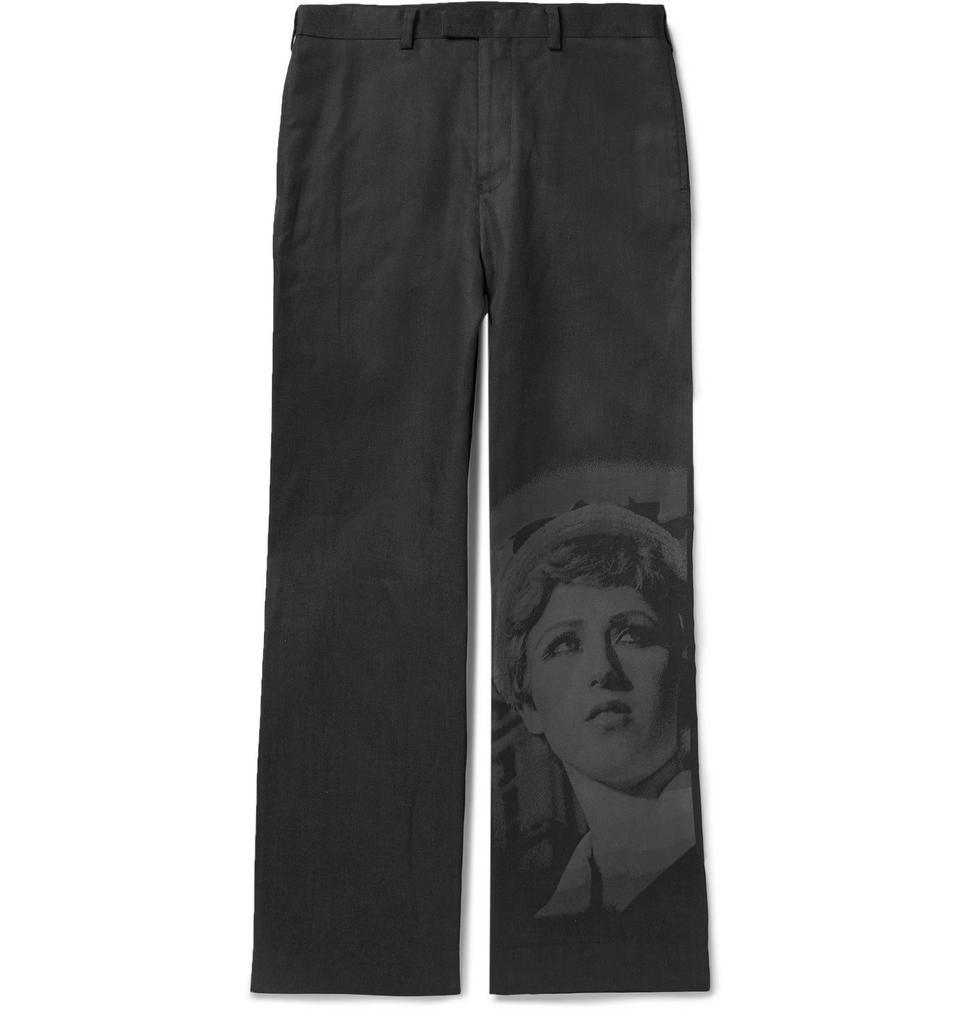 Photo: Undercover - Cindy Sherman Printed Cotton Trousers - Black