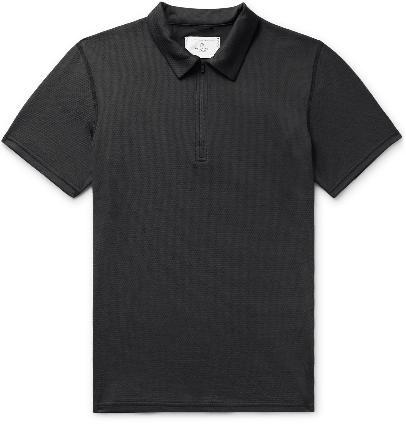 Photo: Reigning Champ - SOLOTEX Polo Shirt - Black
