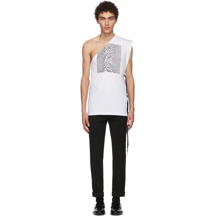 Photo: Raf Simons White and Black Asymmetric T-Shirt
