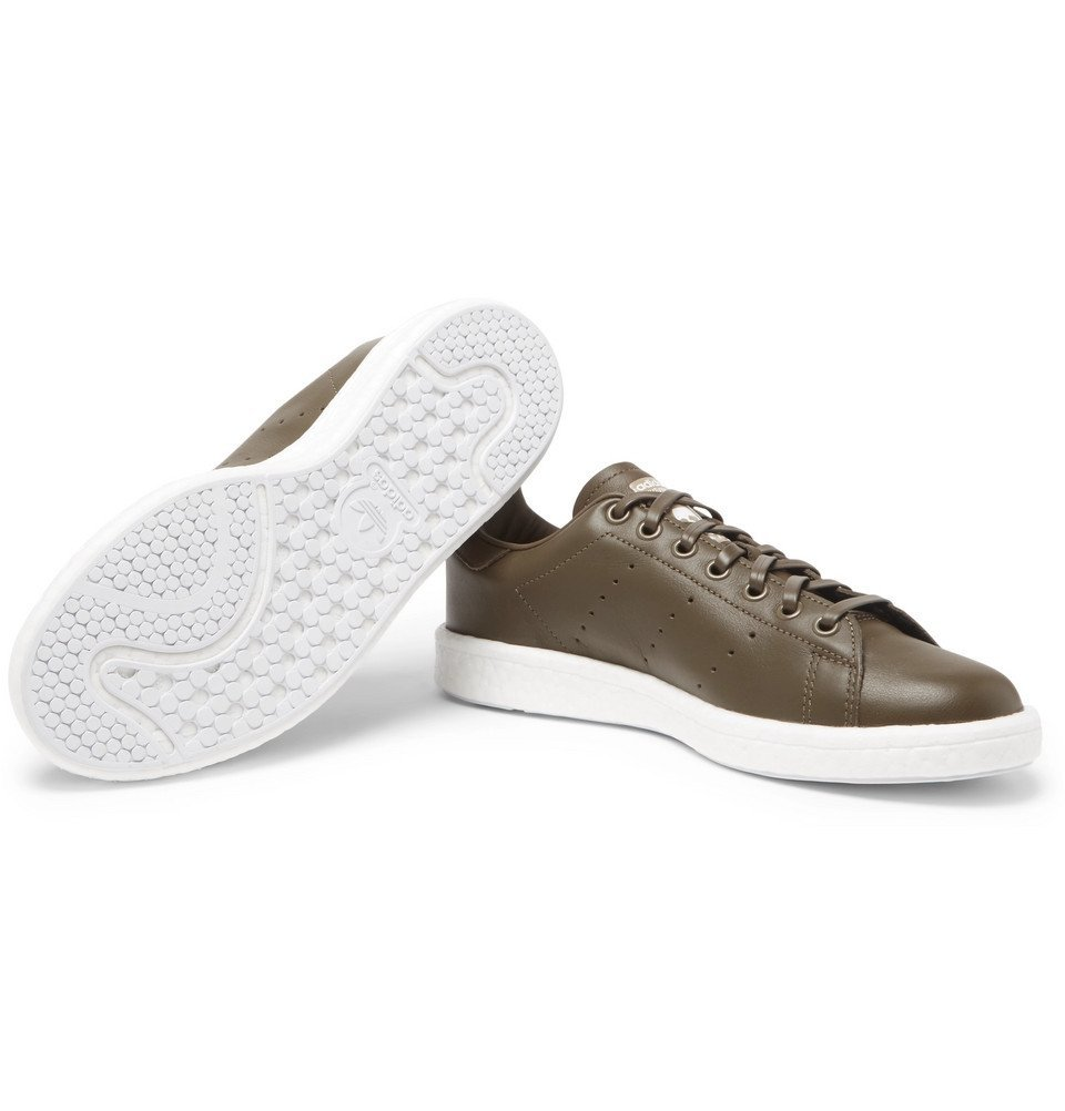 55f01a20099b8a adidas Consortium - Neighborhood Stan Smith Leather Sneakers - Men - Army  green