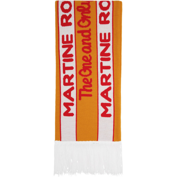 Photo: Martine Rose SSENSE Exclusive Orange and Green Football Scarf
