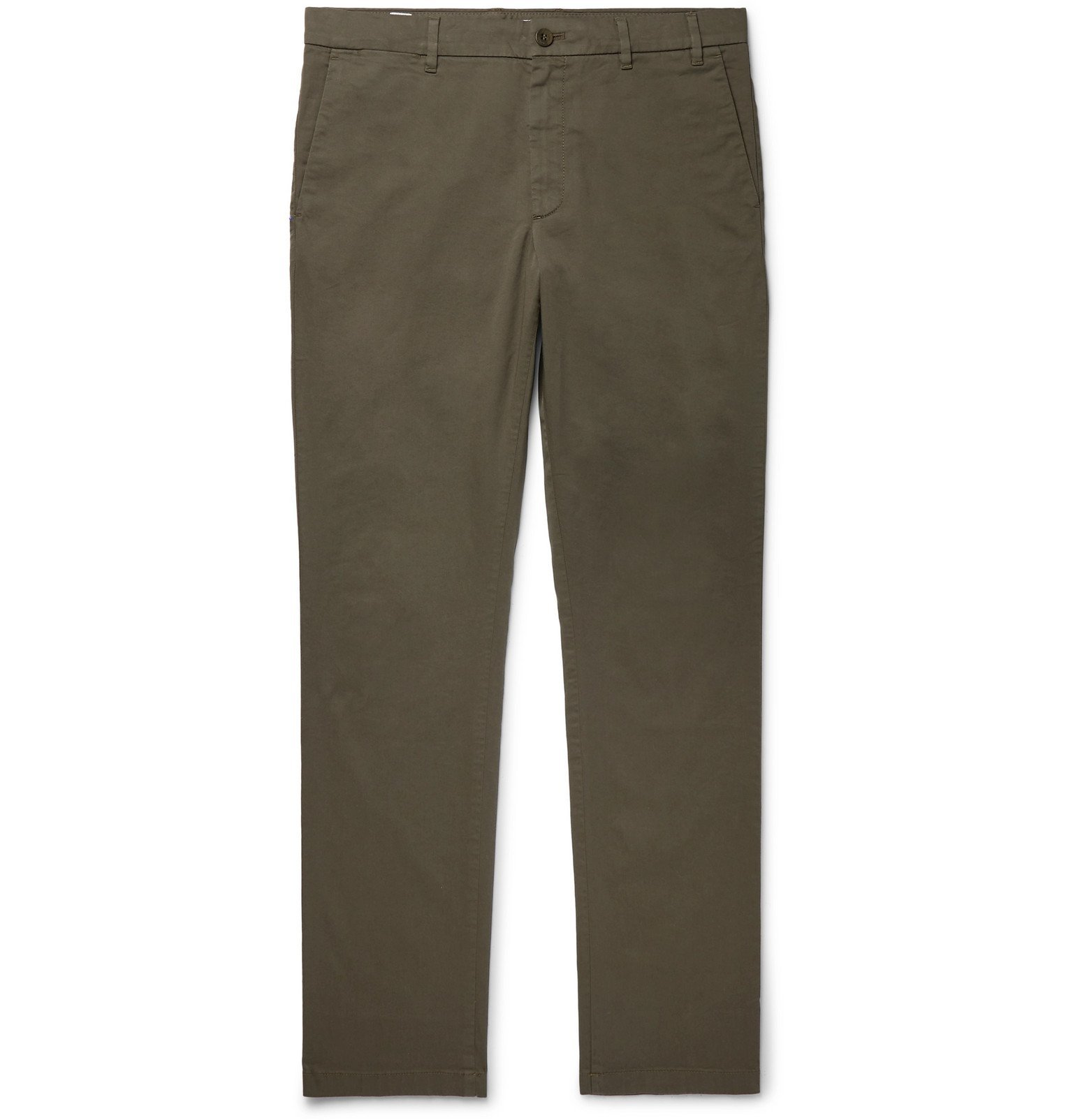 Photo: Norse Projects - Aros Slim-Fit Cotton-Twill Chinos - Green