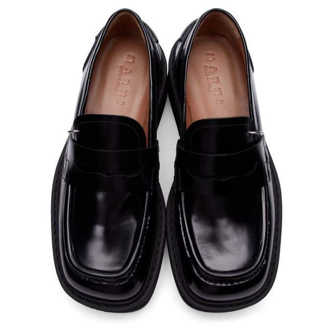 Marni Black Chunky Loafers