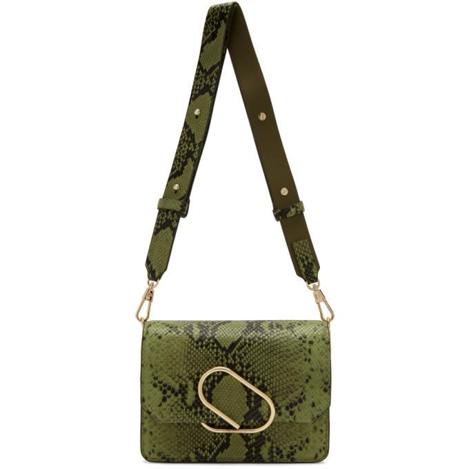 3.1 Phillip Lim Green Python Mini Alix Shoulder Bag