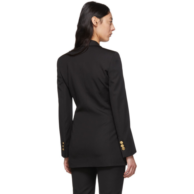 Versace Black Four Button Blazer