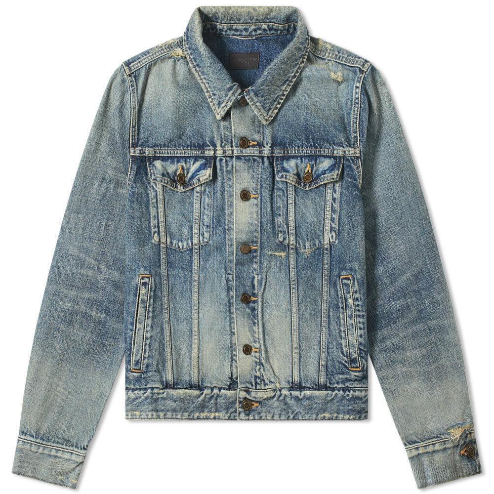 Photo: Saint Laurent Classic Destroyed Denim Jacket