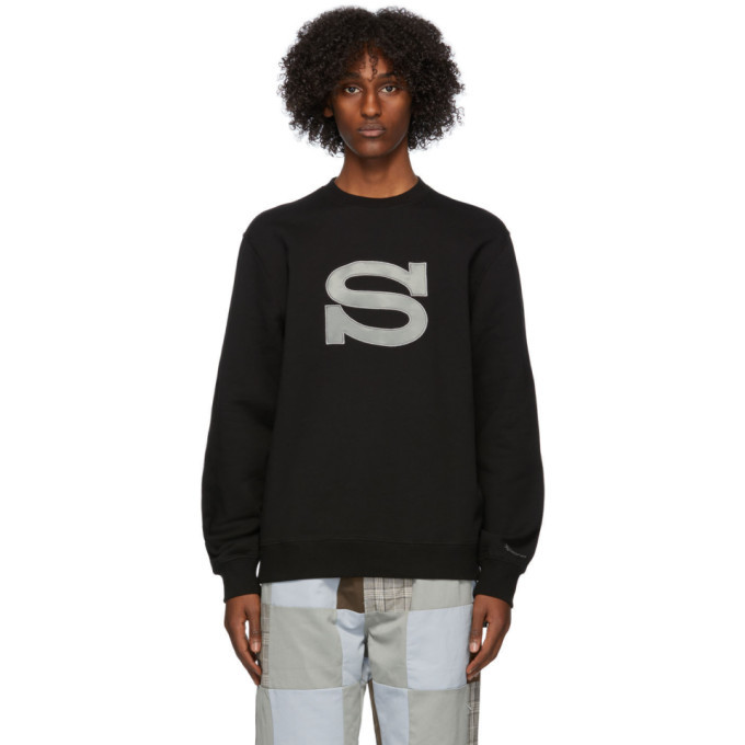Photo: Stussy Black Logo Applique Sweatshirt