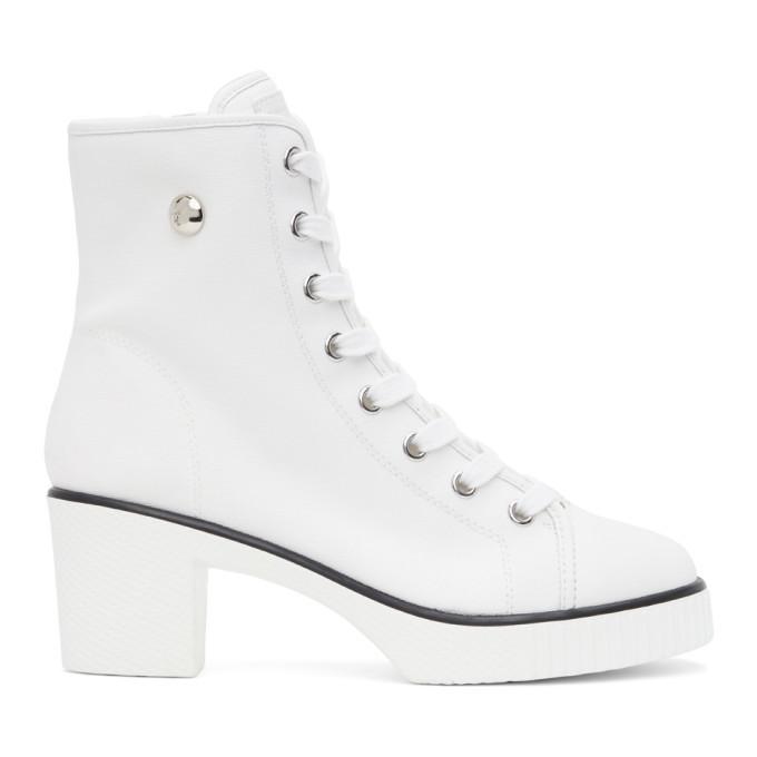 Photo: Giuseppe Zanotti White Kana Heeled Boots