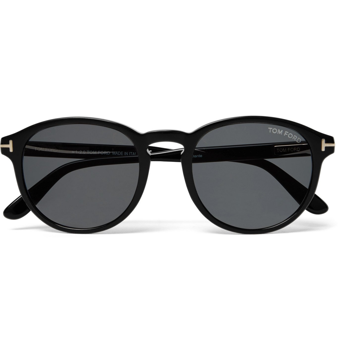 Photo: TOM FORD - Dante Round-Frame Acetate Sunglasses - Black