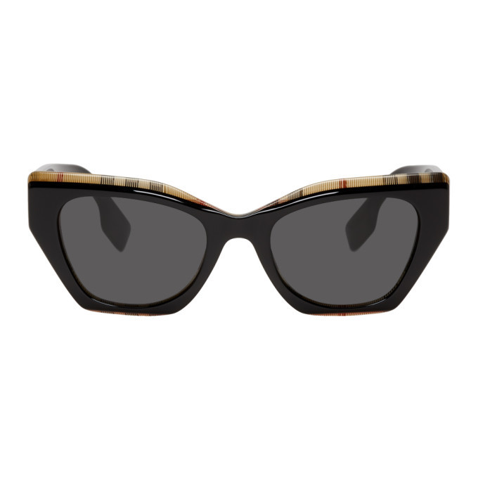 Photo: Burberry Black and Check Butterfly Sunglasses
