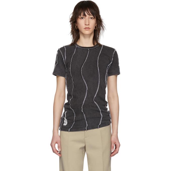 Martine Rose Black Reversible Wobbly T-Shirt