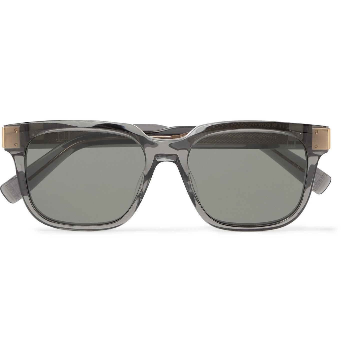 DUNHILL - Square-Frame Acetate and Gold-Tone Sunglasses - Gray