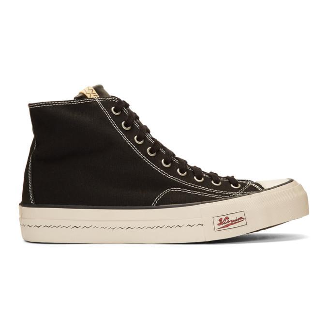 Photo: Visvim Black Skagway Hi Patten Sneakers