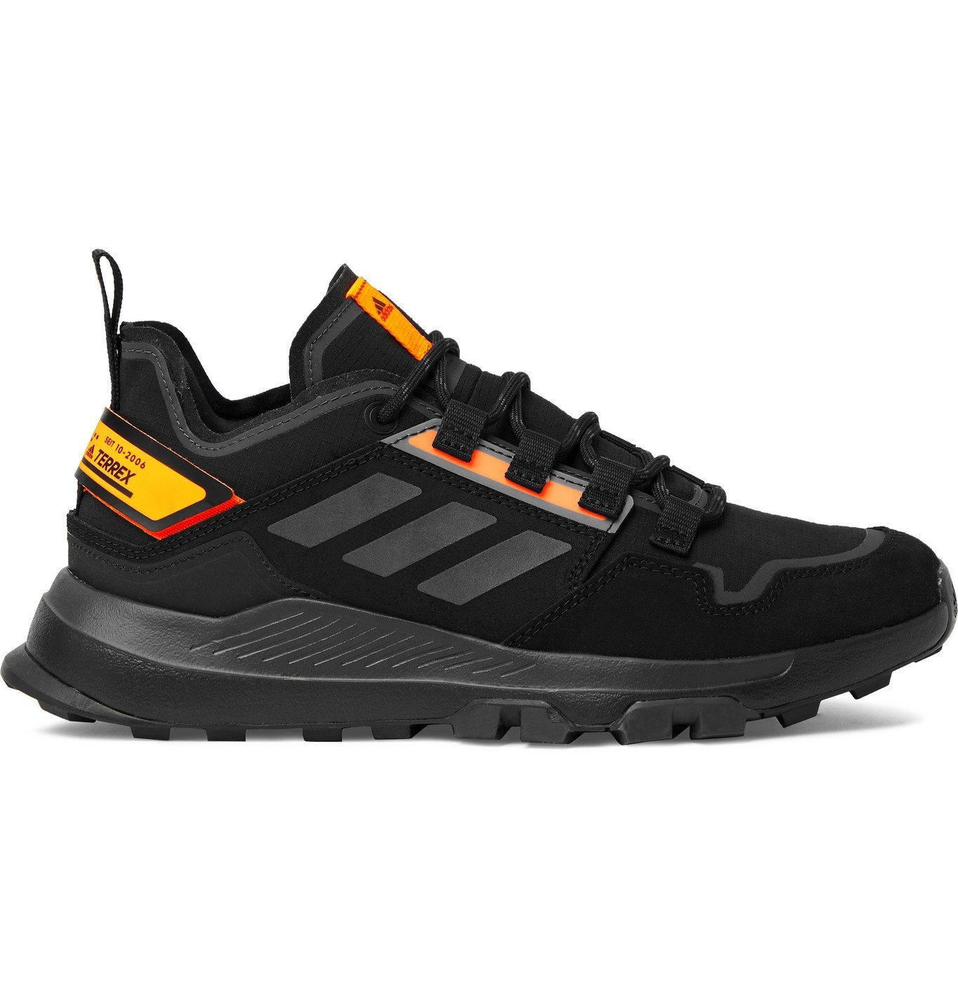 Photo: Adidas Sport - Terrex Hikster Low Ripstop, Suede and Leather Hiking Sneakers - Black