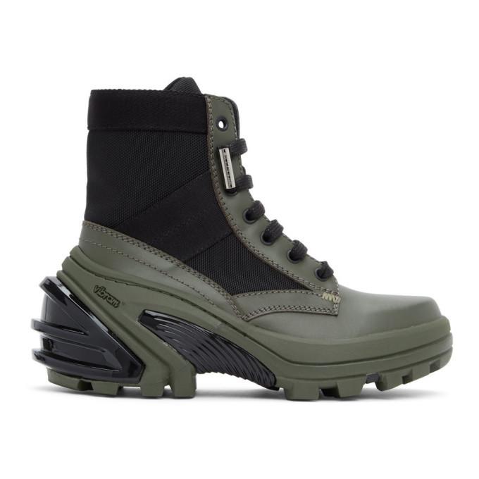 Photo: 1017 ALYX 9SM Black and Khaki Fuoripista Lace-Up Boots