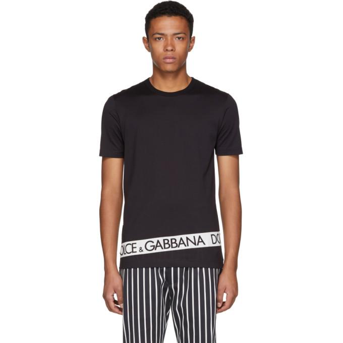 Photo: Dolce and Gabbana Black Logo Tape T-Shirt