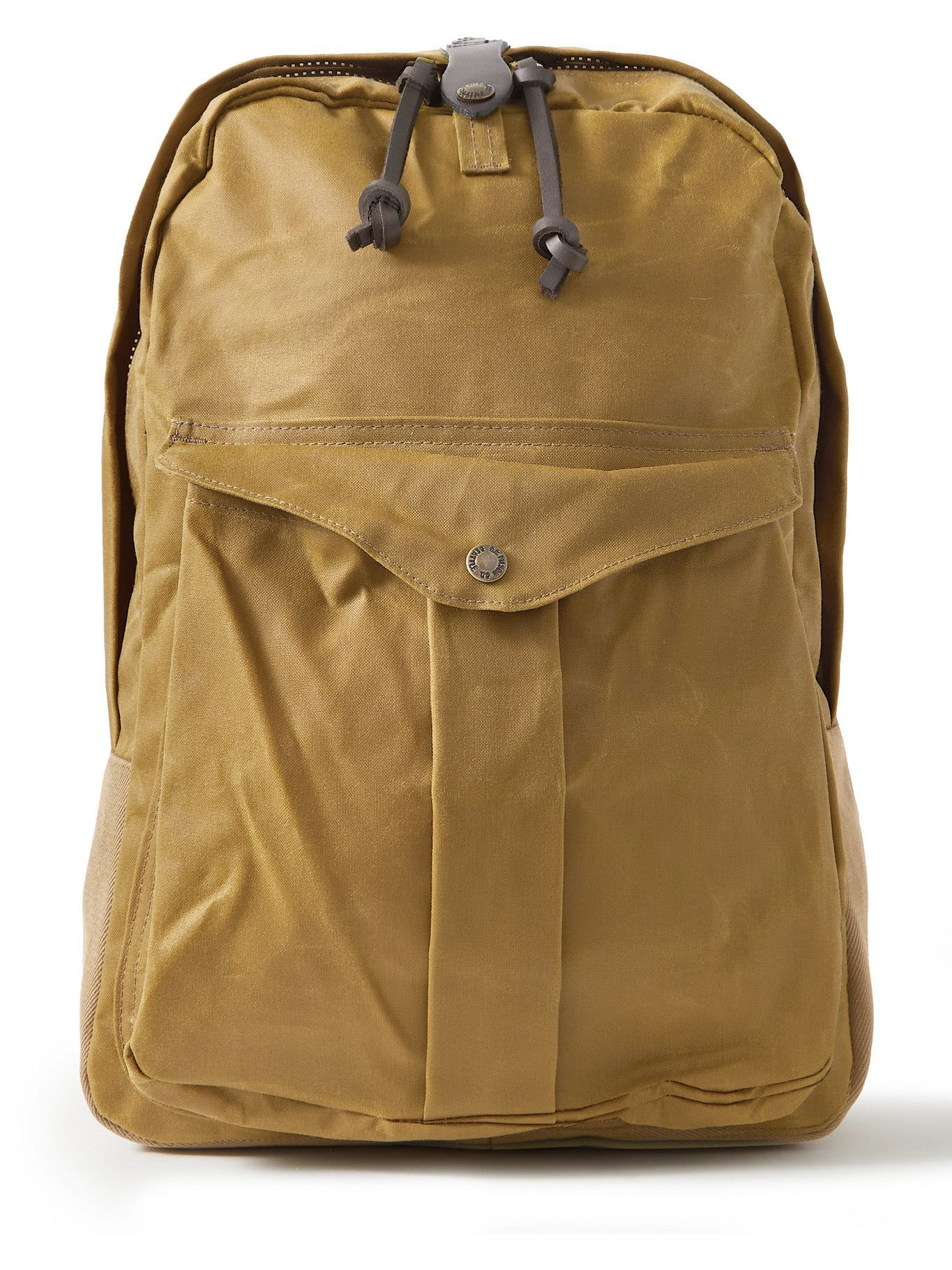 Photo: FILSON - Journeyman Leather-Trimmed Canvas and Twill Backpack