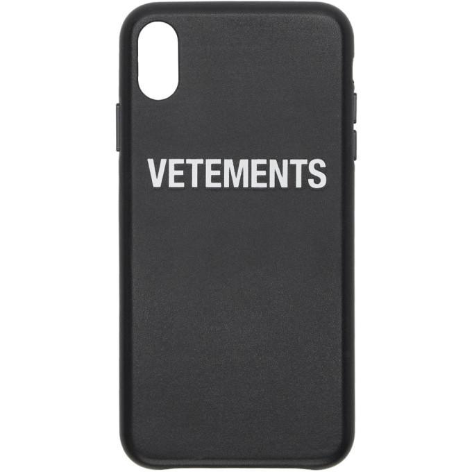 Photo: Vetements Black Logo iPhone X Case