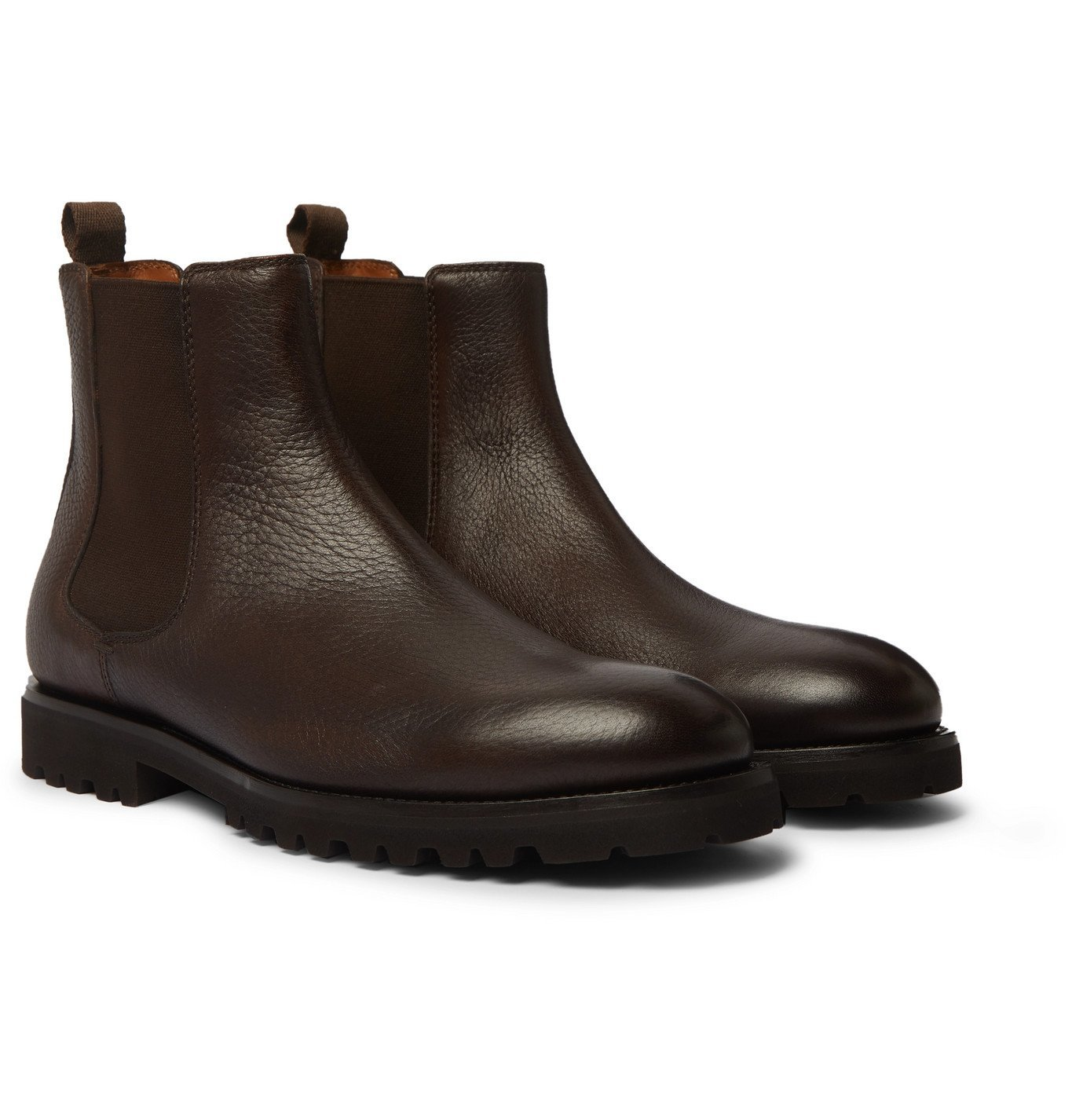 Photo: Brunello Cucinelli - Full-Grain Leather Chelsea Boots - Brown