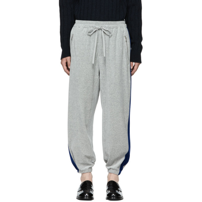 Photo: 3.1 Phillip Lim Grey and Blue Baggy Sweatpants