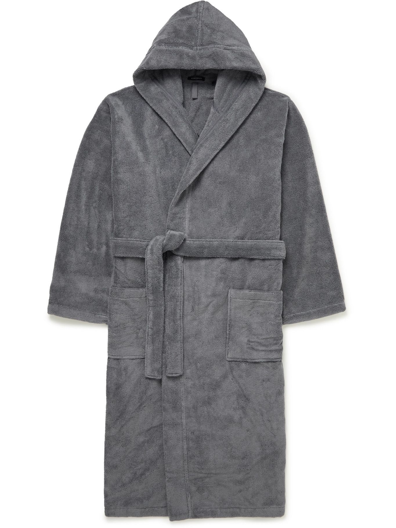 Photo: SCHIESSER - Cotton-Terry Hooded Robe - Gray