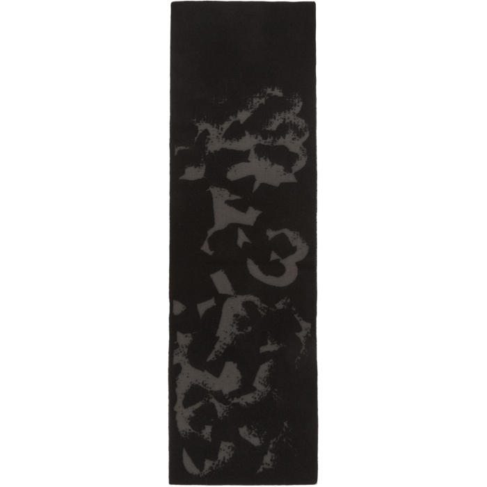 Photo: Y-3 Black Logo Icon Scarf