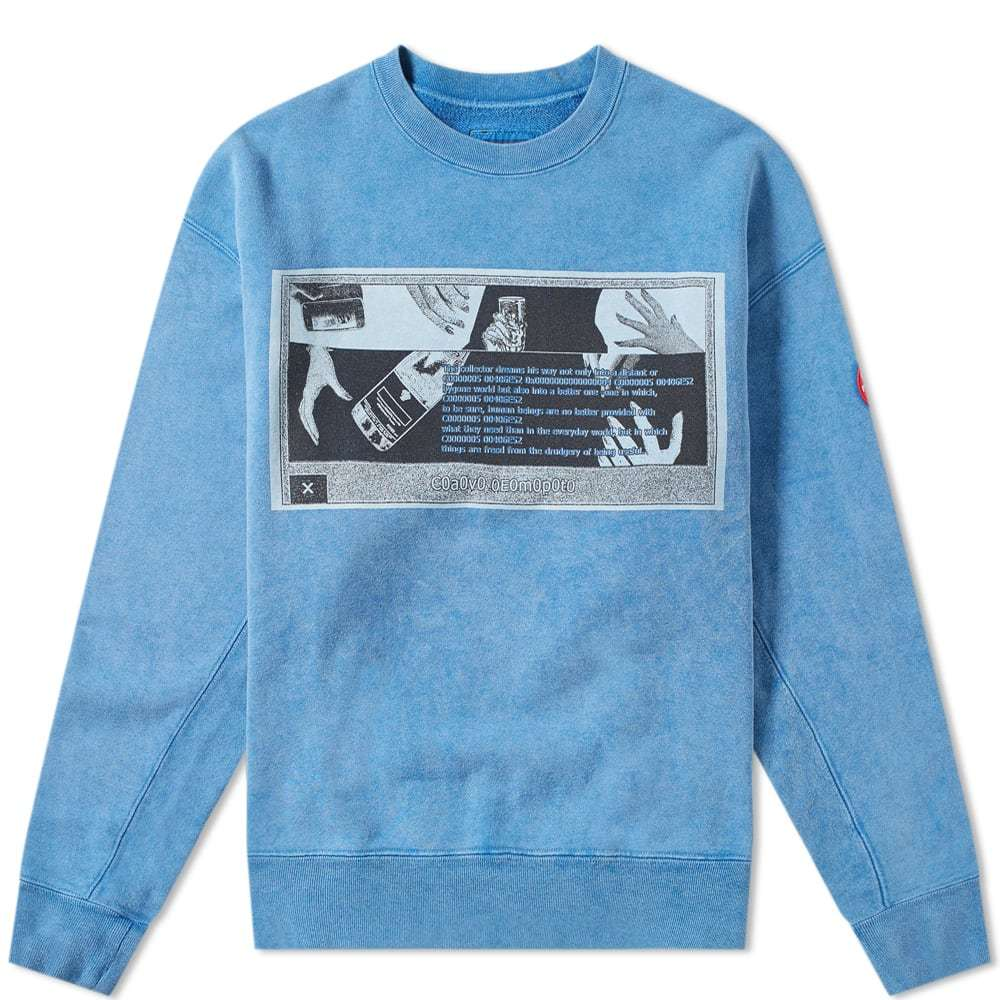 Photo: Cav Empt Washed Print Sweat Blue