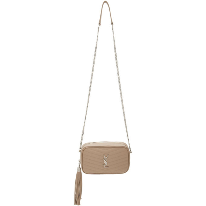 Photo: Saint Laurent Beige Mini Lou Camera Bag
