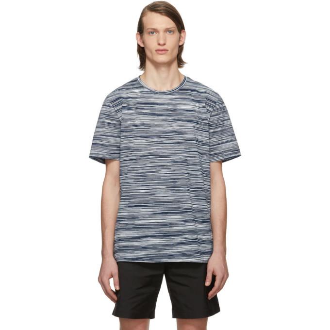 Photo: Missoni Blue and White Striped T-Shirt