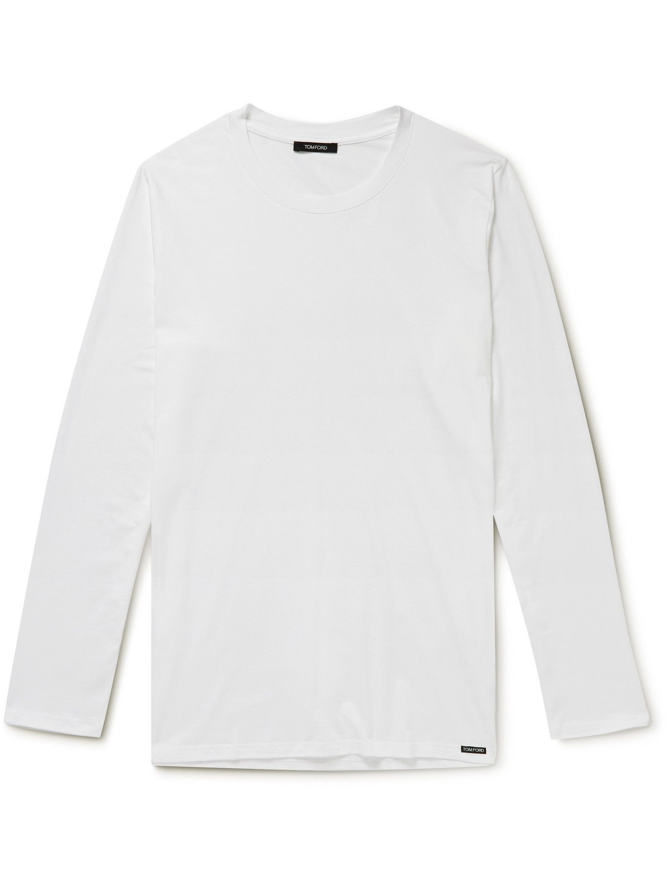 Photo: TOM FORD - Stretch Cotton and Modal-Blend T-Shirt - White