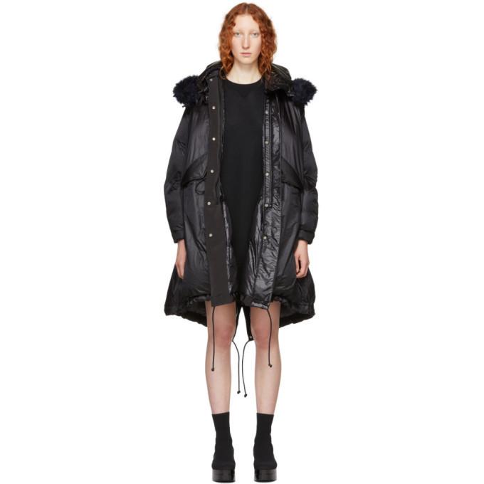 Sacai Black Down Coat