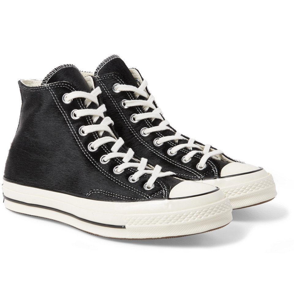 Photo: Converse - 1970s Chuck Taylor All Star Calf Hair High-Top Sneakers - Black