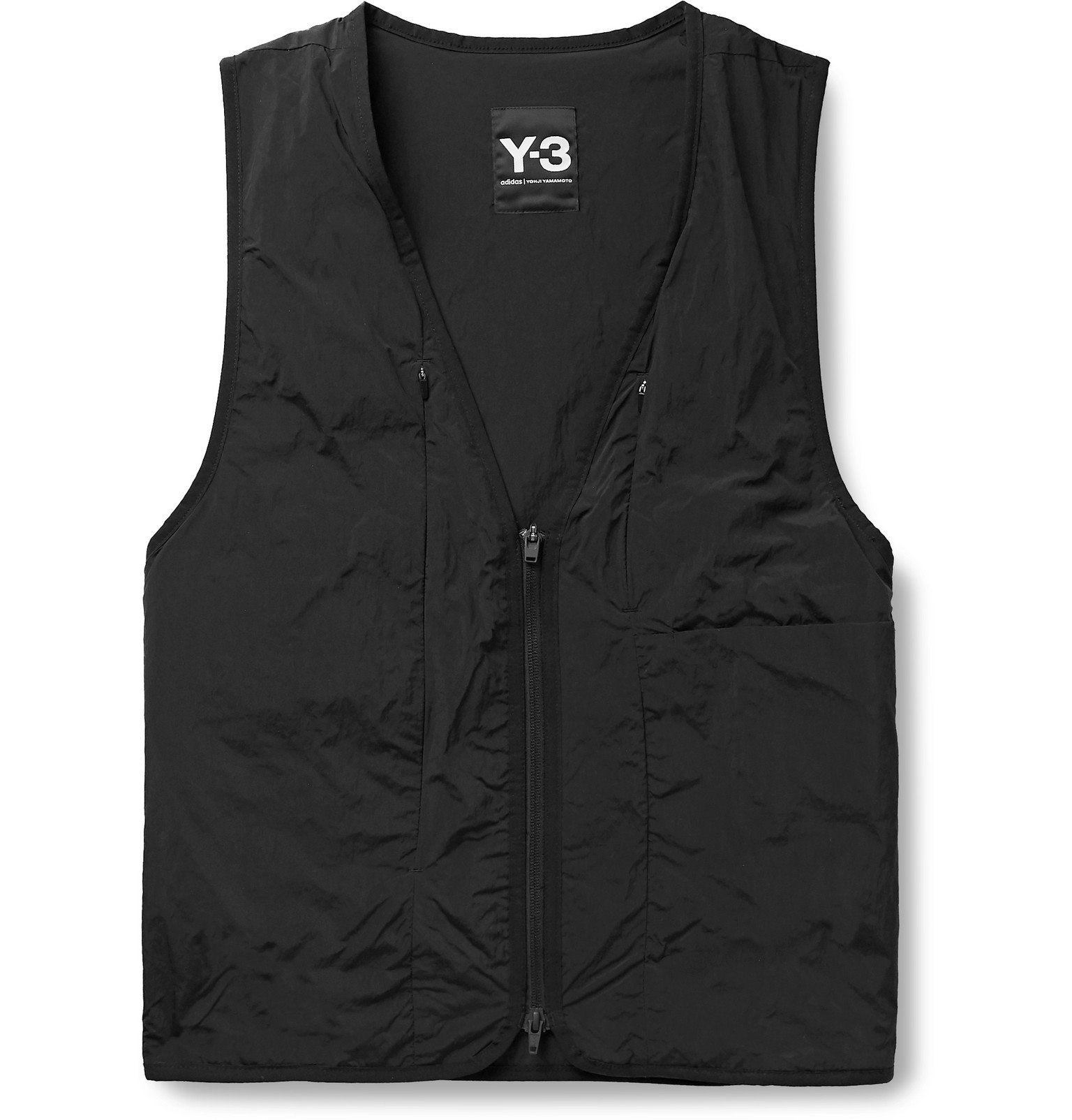 Photo: Y-3 - Jersey-Trimmed Shell Gilet - Black