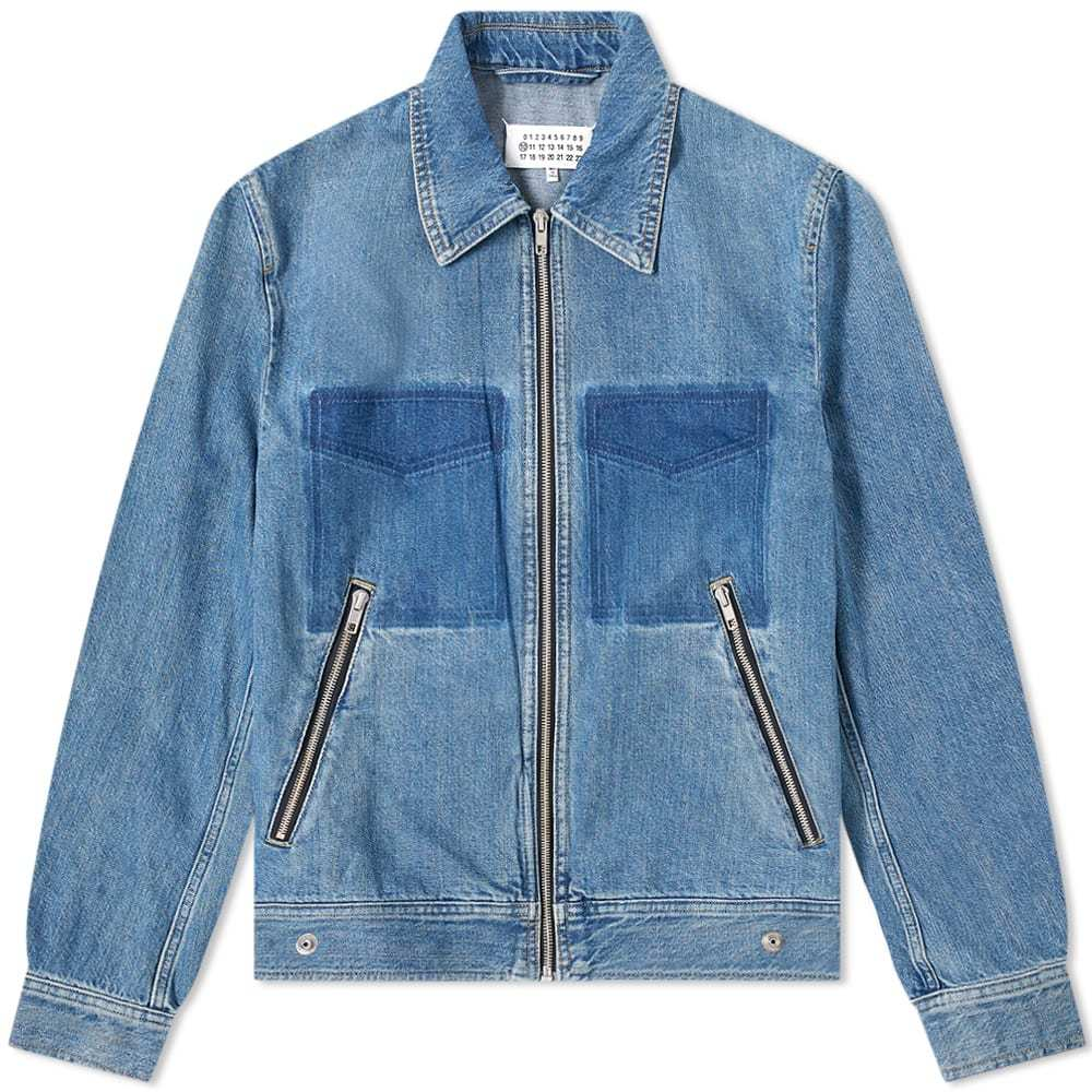 Photo: Maison Margiela 10 Zip Denim Jacket