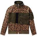 Sacai - Panelled Leopard-Print Corduroy and Cotton-Blend Jacket - Brown