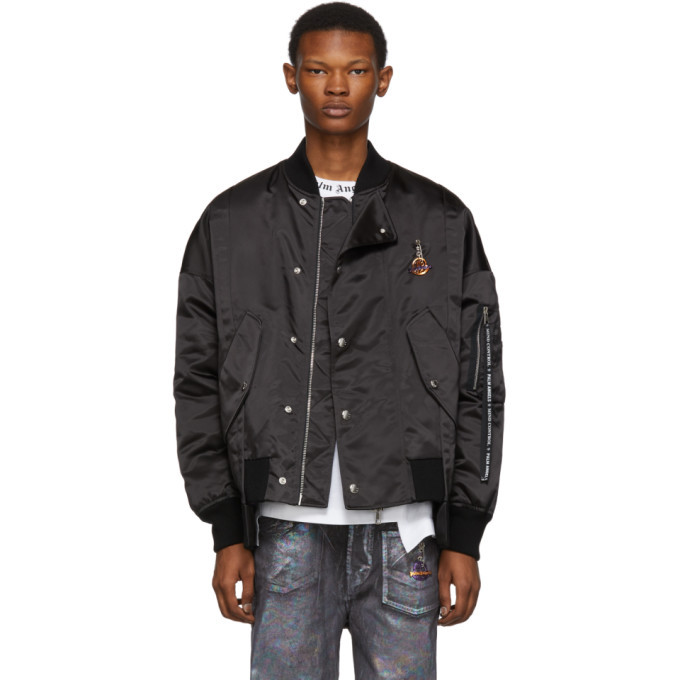 Photo: Moncler Genius 8 Moncler Palm Angels Black Down Axl Bomber Jacket
