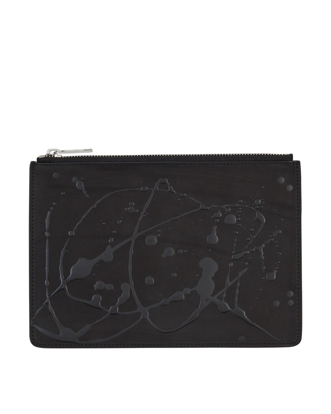 Photo: Maison Margiela Logo Wallet Black/Paint