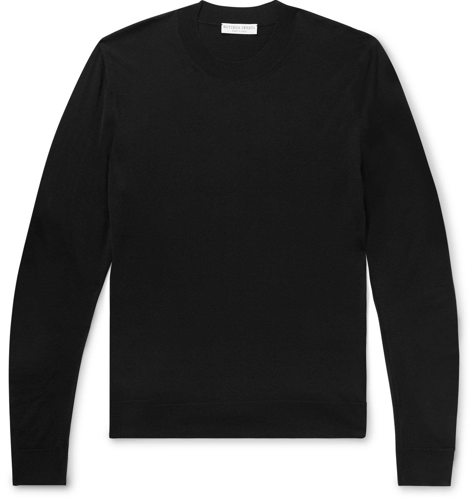 Photo: Bottega Veneta - Slim-Fit Logo-Intarsia Wool Sweater - Black