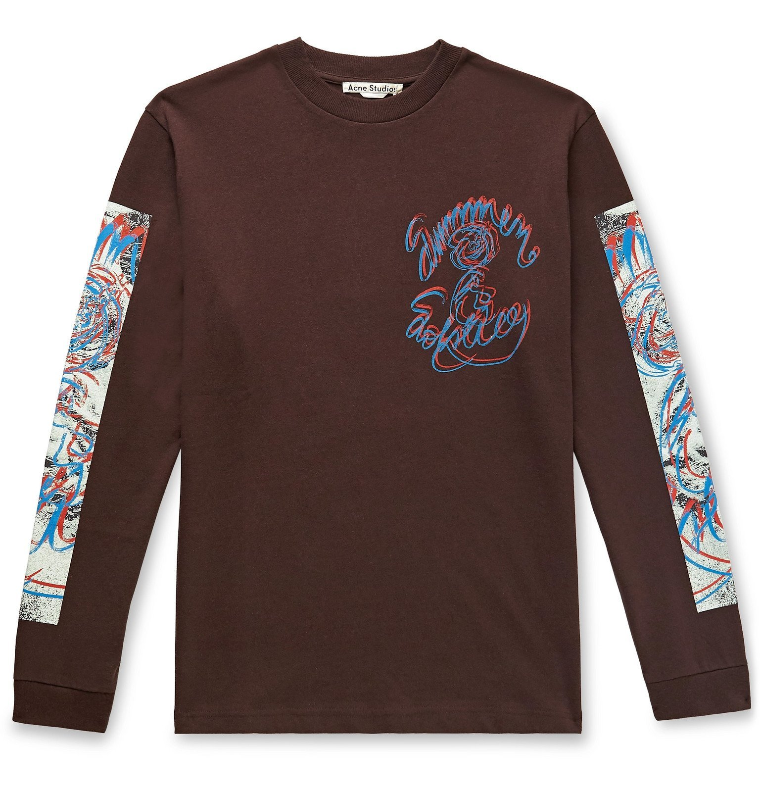 Photo: Acne Studios - Jaceye Printed Cotton-Jersey T-Shirt - Brown