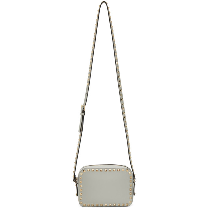 Photo: Valentino Grey Valentino Garavani Rockstud Crossbody Bag
