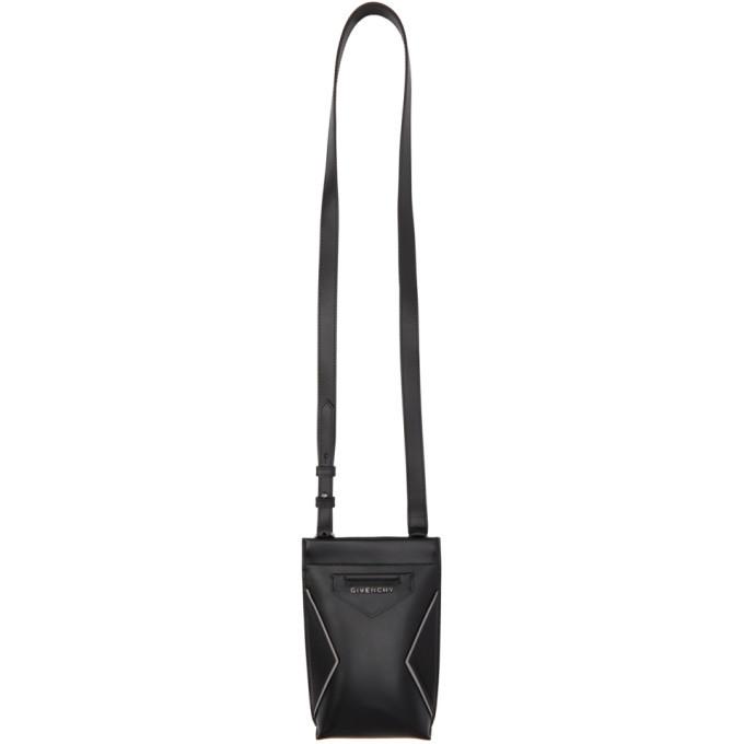 Photo: Givenchy Black Leather Antigona Phone Pouch