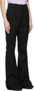 Raf Simons Black Canvas Flared Trousers