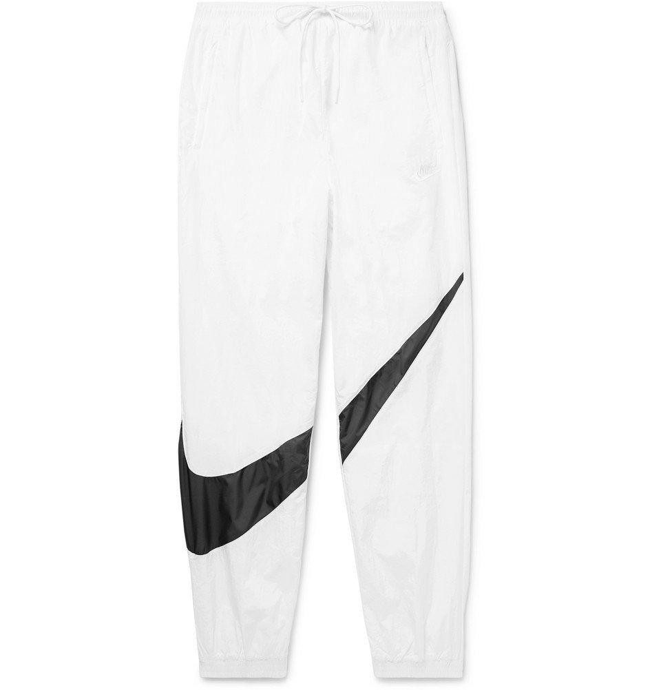 Nike - Tapered Logo-Print Nylon Track