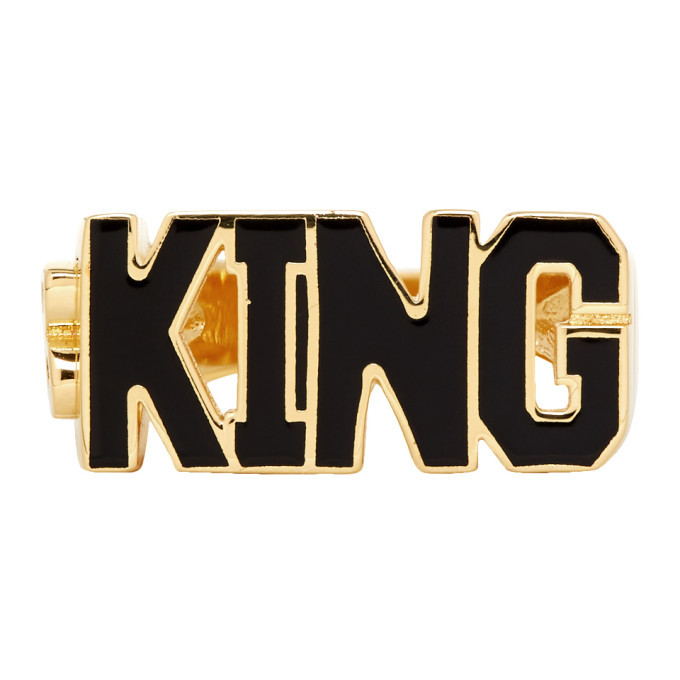 Photo: Dolce and Gabbana Gold King Ring